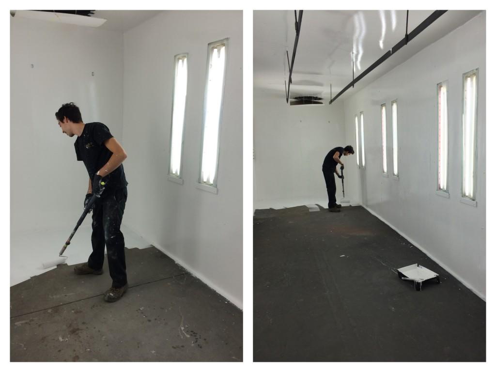 couche peinture blanche plafond plancher