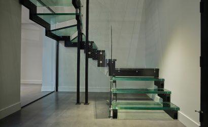 Réalisation Enfer Design - Escalier de verre - Garde-corps en verre - Résidence de luxe de Québec